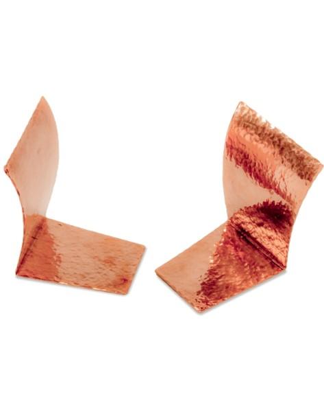 Kupfer-Buchstützen ELAN gehämmert paarweise