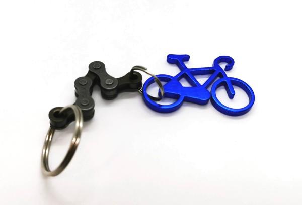 Schlüsselanhänger Fahrrad Blau