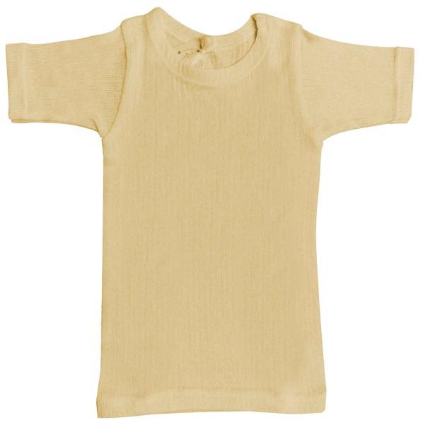 Unterhemd (kurzarm für Kinder in Wolle/Seide)