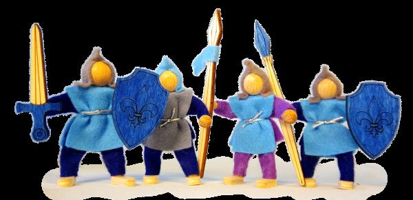 Püppchen Ritterset blau 5er Set