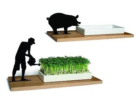 Kresseschale Gärtner/ Schwein