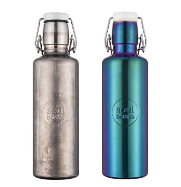 Edelstahlflasche für Unterwegs 0,6 L