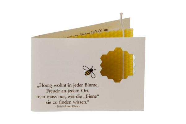 Bienenbüchlein mit Bienenwachsplatte