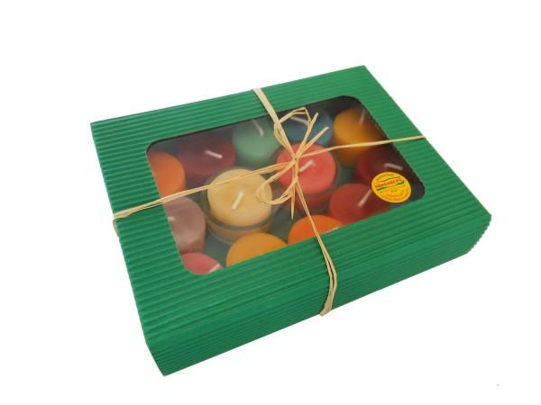 Teelichter in Geschenkverpackung