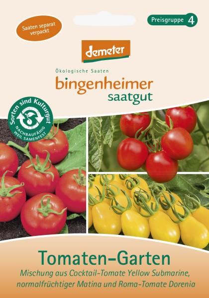 Tomaten-Garten mit drei Sorten