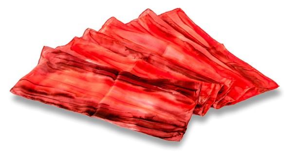 Seidentuch handgefärbt rote Töne