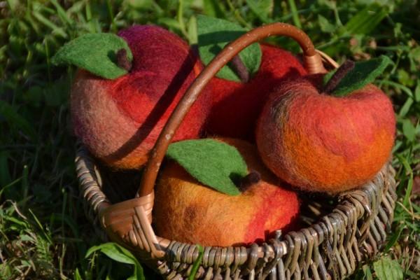 Filz-Apfel