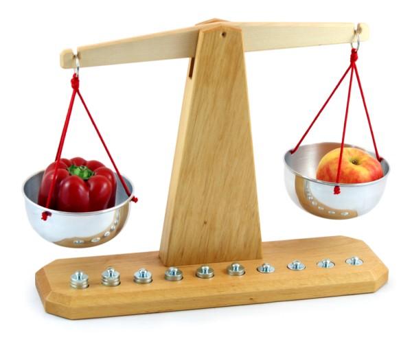 Waage mit Gewichten