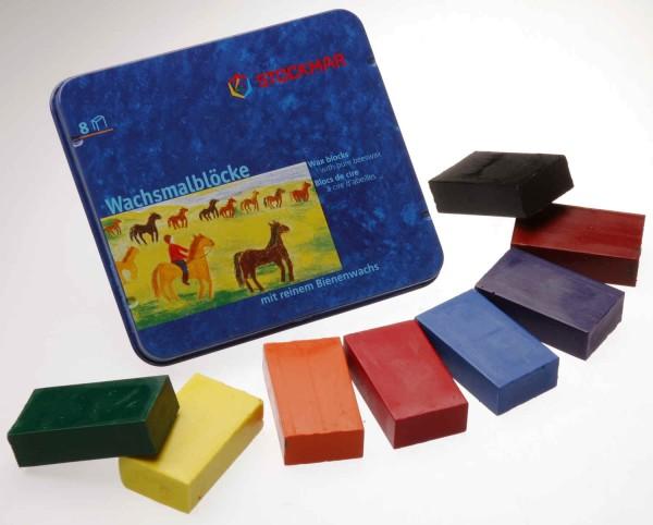 Stockmar Wachsmalblöcke - 8 Farben Standartsortiment