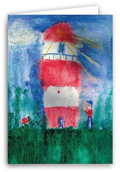 Klappkarte, Leuchtturm