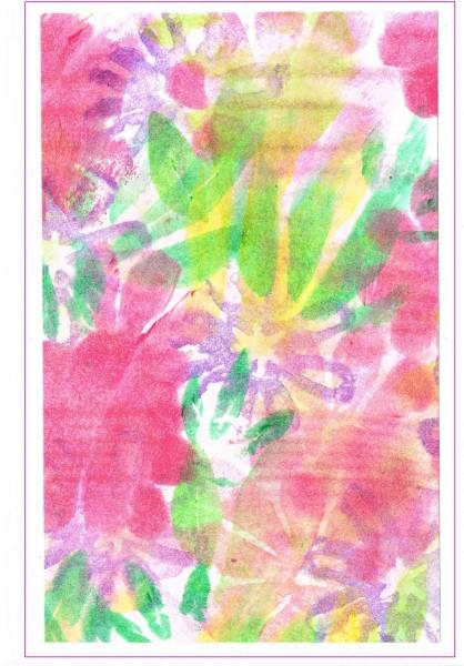 Grußkarten Blüten und Blätter