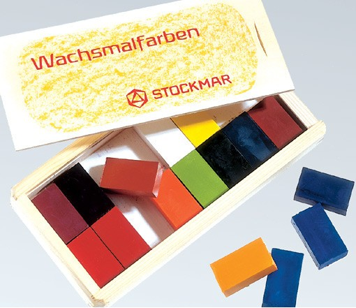 Stockmar Wachsmalblöcke - 16 Farben im Holzkasten
