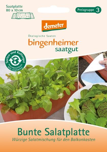 Bunte Salatplatte - Würzige Mischung für den Balkonkasten
