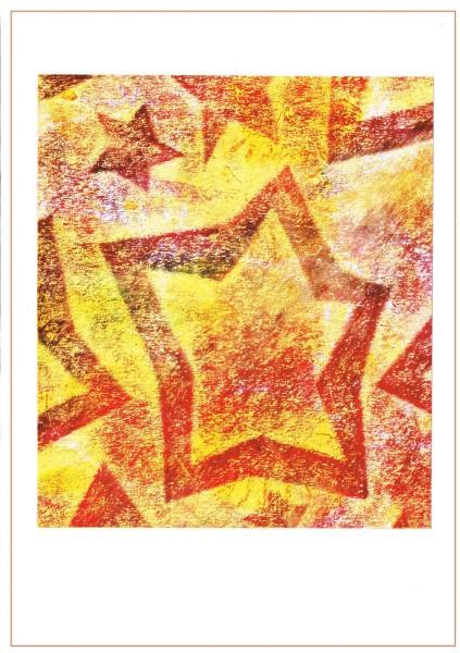 Grusskarte Sterne