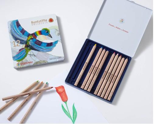 Stockmar Buntstifte dreieckig 13 Stifte sortiert